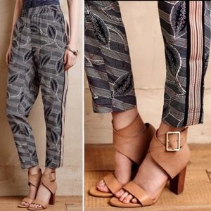 Hei Hei Lourinha Leaf Printed Ankle Jogger Pants
